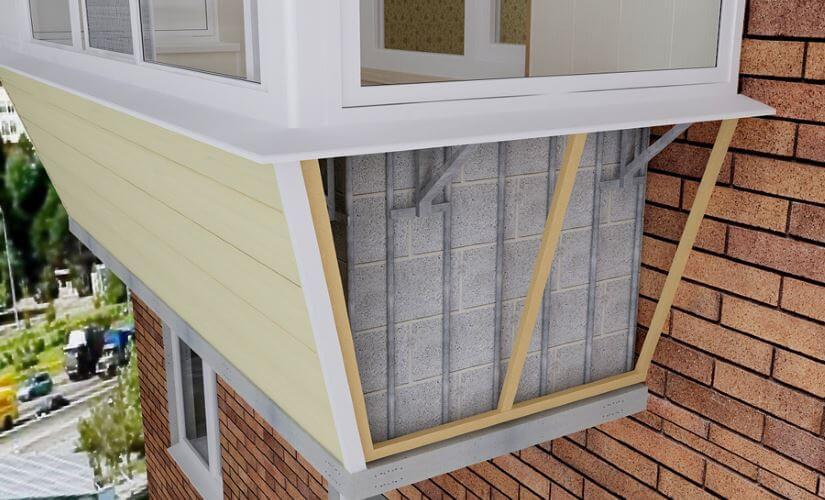 Балкон с выносом в хрущевке