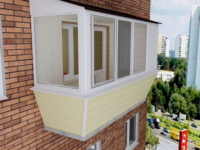 Как сделать балкон с выносом
