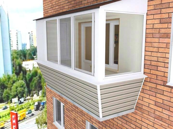 Застеклить балкон с выносом цена Киев 4