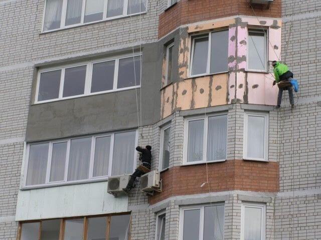 Наружное утепление балкона Киев 2