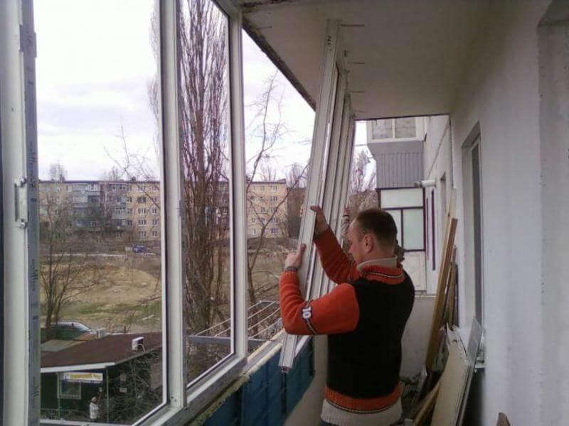 Наружное утепление балкона Киев 4