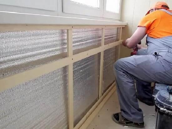 внутреннее утепление балкона киев 2
