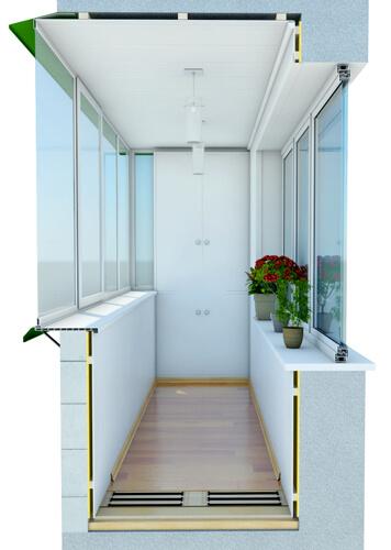 Отделка балкона пластиком Киев 2