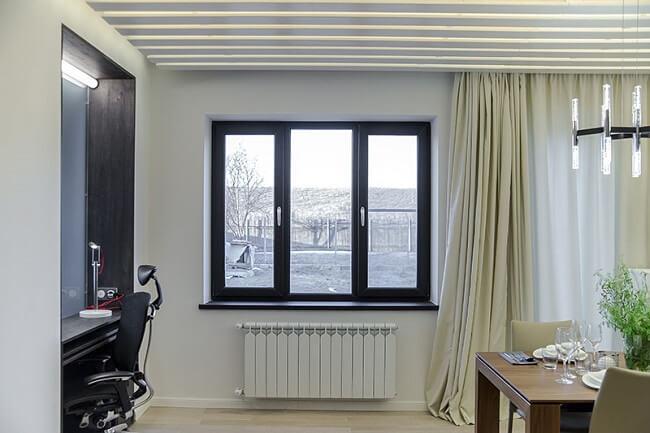 Пластиковые окна черного цвета